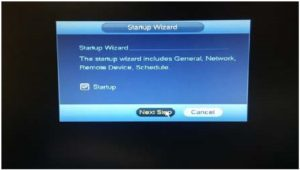 Figure 1: Startup Wizard Screen