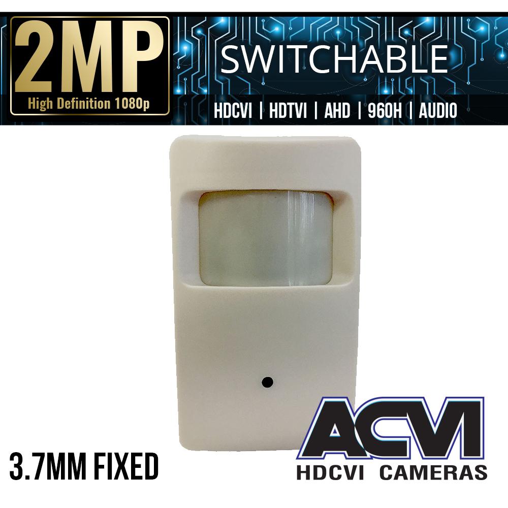 HD-CVI 1080P Motion Detector Covert Security Camera 3.7mm Lens 12VDC